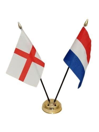 Netherlands with England Friendship Table Flag