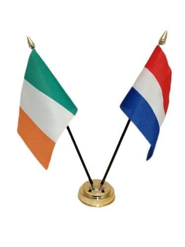Netherlands with Ireland Friendship Table Flag