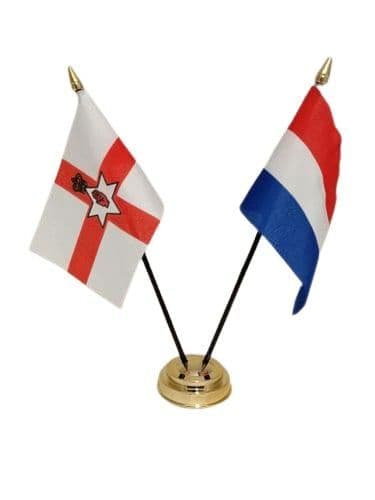 Netherlands with Northern Ireland Friendship Table Flag