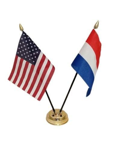 Netherlands with USA Friendship Table Flag