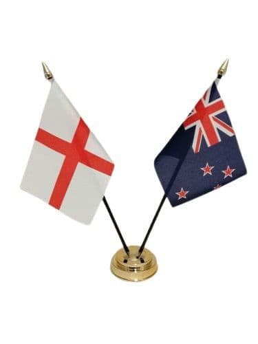 New Zealand with England Friendship Table Flag