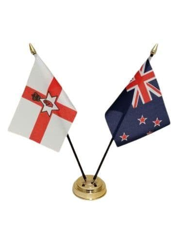 New Zealand with Northern Ireland Friendship Table Flag