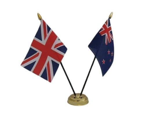 New Zealand with UK Friendship Table Flag