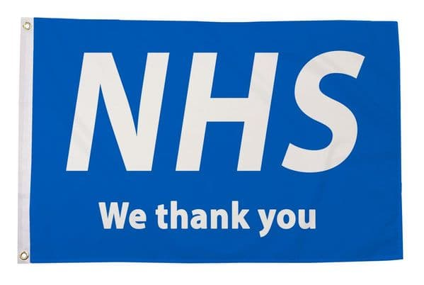NHS We Thank You 5ft x 3ft Flag