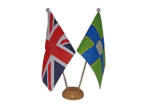 North Riding of Yorkshire Friendship Wooden Table Flag