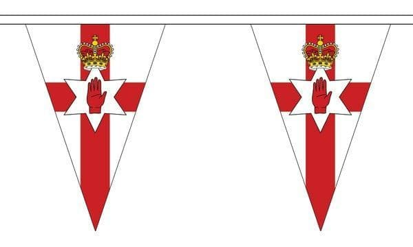 Northern Ireland Triangle Bunting (5m) - 12 Flags