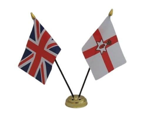 Northern Ireland with UK Friendship Table Flag