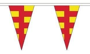 Northumberland Triangle Bunting (5m) - 12 Flags
