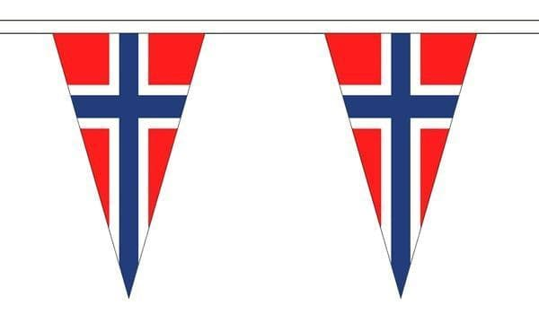 Norway Triangle Bunting (5m) - 12 Flags