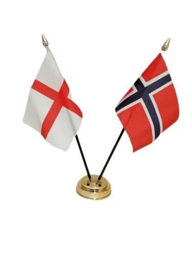 Norway with England Friendship Table Flag
