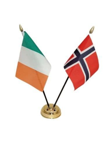 Norway with Ireland Friendship Table Flag