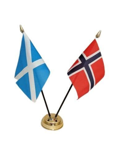 Norway with Scotland Friendship Table Flag