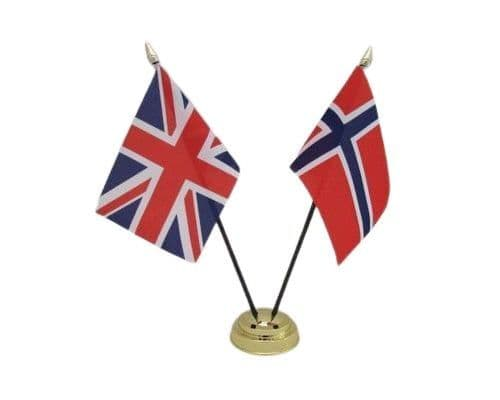 Norway with UK Friendship Table Flag