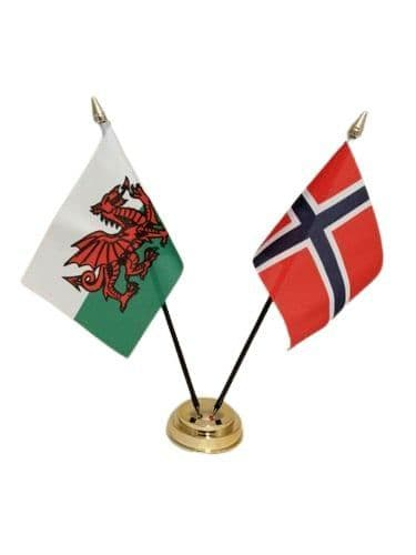 Norway with Wales Friendship Table Flag