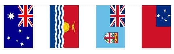 Oceania Country Mixed Bunting (6m) - 14 Flags