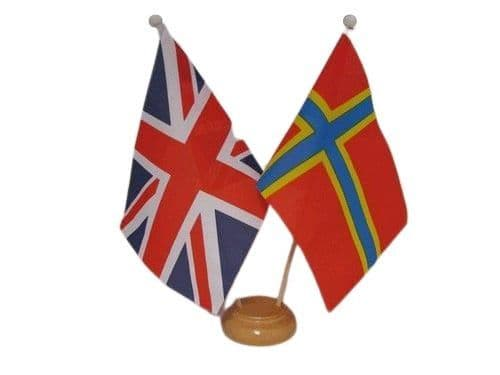 Orkney Friendship Wooden Table Flag