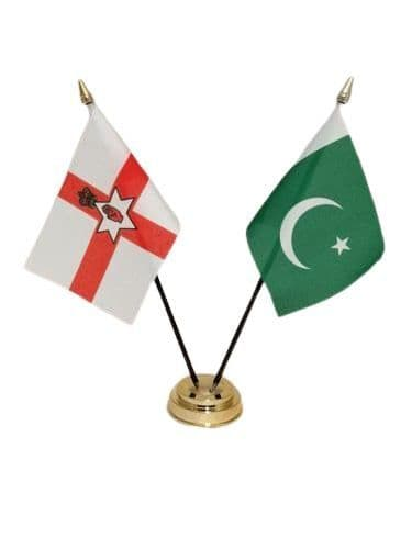 Pakistan with Northern Ireland Friendship Table Flag