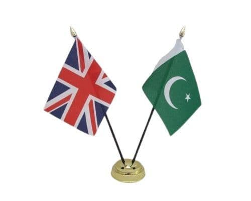 Pakistan with UK Friendship Table Flag