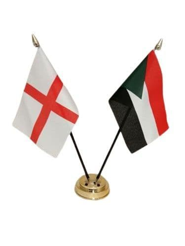 Palestine with England Friendship Table Flag