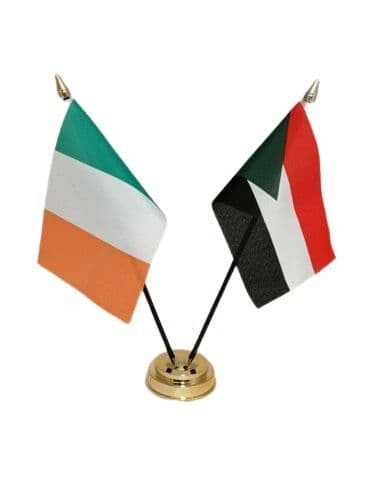 Palestine with Ireland Friendship Table Flag