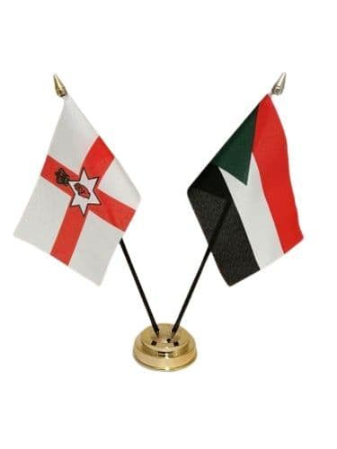 Palestine with Northern Ireland Friendship Table Flag