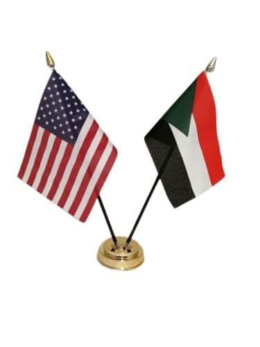 Palestine with USA Friendship Table Flag