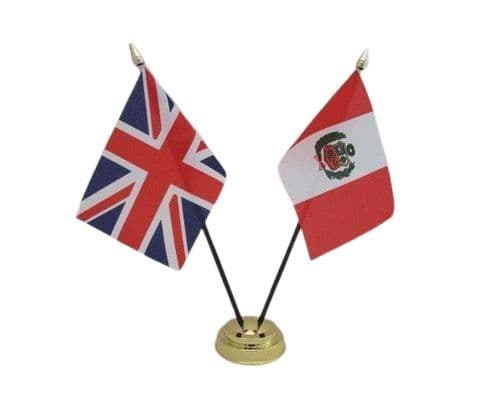 Peru with UK Friendship Table Flag