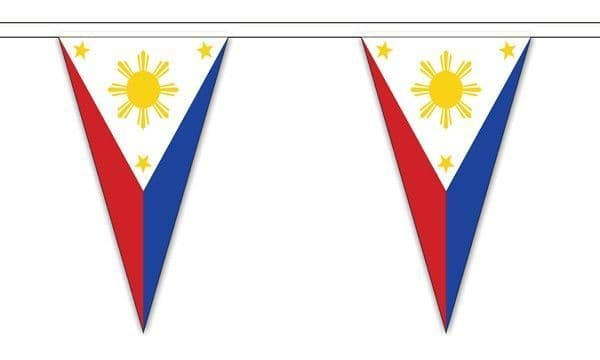 Philippines Triangle Bunting (5m) - 12 Flags