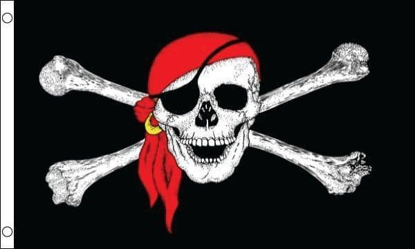 Pirate with Bandana GIANT Flag - 8ft x 5ft