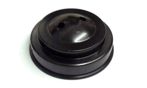 Plastic Base for Table Flags - 2 Hole Black