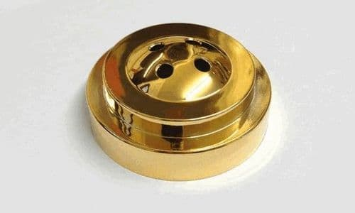 Plastic Base for Table Flags - 4 Hole Gold
