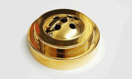 Plastic Base for Table Flags - 5 Hole Gold