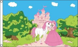Princess Pony Castle 5ft x 3ft Flag