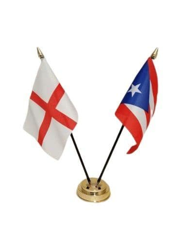 Puerto Rico with England Friendship Table Flag