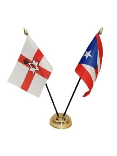 Puerto Rico with Northern Ireland Friendship Table Flag