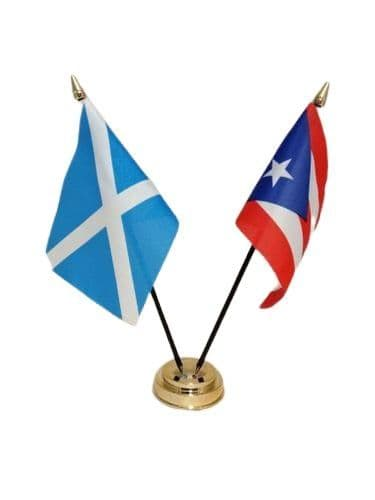 Puerto Rico with Scotland Friendship Table Flag