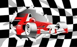Racing Car 5ft x 3ft Flag