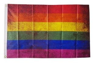 Rainbow Grunge 5ft x 3ft Flag