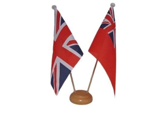 red Ensign Friendship Wooden Table Flag