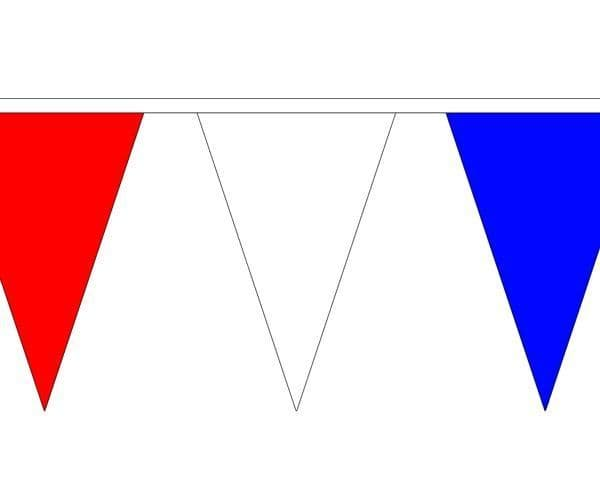 Red, White & Blue Triangle Bunting (20m) - 54 Flags