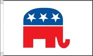 Republican Party (USA) 5ft x 3ft Flag