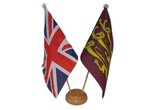 Richard Lionheart Friendship Wooden Table Flag | Buy Richard Lionheart Friendship Wooden Table Flag | NWFlags