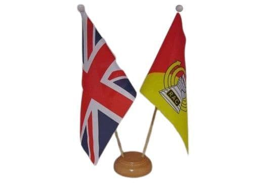 Royal Armoured Corps Friendship Wooden Table Flag