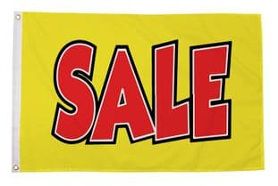 Sale Yellow 5ft x 3ft Flag