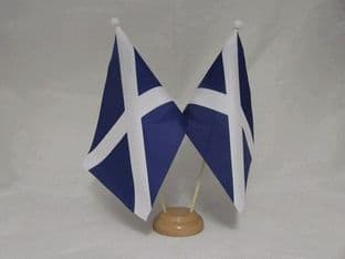 Scotland Double Wooden Table Flag