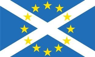 Scotland in Europe 5ft x 3ft Flag