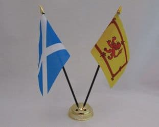 Scotland & Scotland Lion Friendship Table Flag