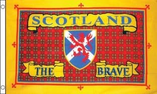 Scotland The Brave (Tartan ) 5ft x 3ft Flag