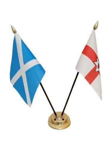 Scotland with Northern Ireland Friendship Table Flag