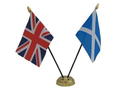 Scotland with UK Friendship Table Flag